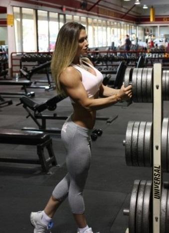Fuck. fit muscular busty women