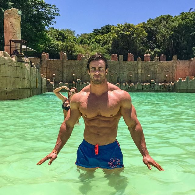 steroid looking body